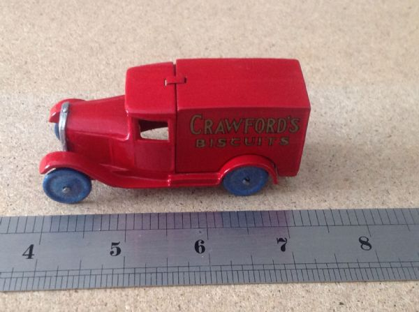 "Dinky Toys copy model 28 Series Type 1 Delivery Van ""Crawfords Biscuits"""